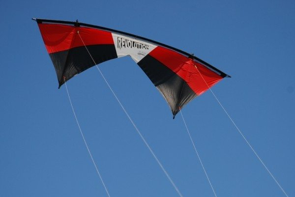 Revolution kite in flight