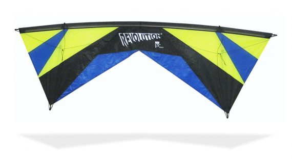 Revolution Kite EXP Lime Blue 2018 four line kite
